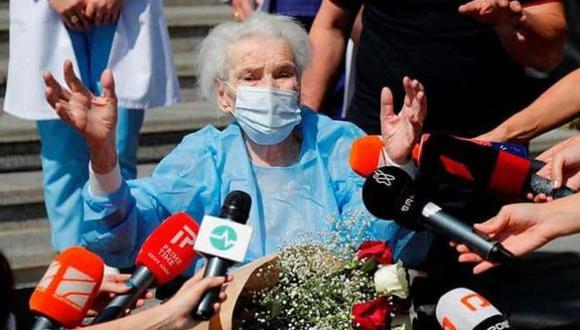 La paciente, una anciana de 111 años, nacida en Georgia 1910, se siente bien y ya está en su casa.