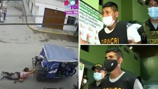 Policía Nacional capturó a los dos sujetos que asaltaron y arrastraron en mototaxi a una mujer