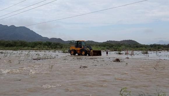 Lambayeque: ríos y quebradas se activaron producto de las intensas lluvias (Foto: Municipalidad distrital de Oyotún)
