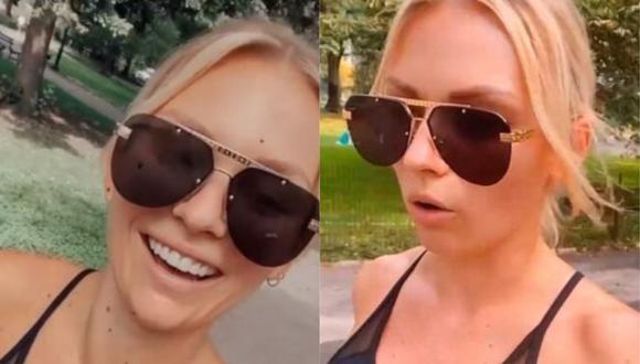 "Irina Baeva explota contra reportero de programa de televisión: ""¡No me deja en paz!"". (Foto: Captura de video)"