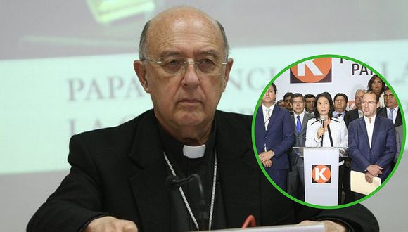 Arzobispo Barreto criticó la labor de Fuerza Popular y congresista fujimorista le pide que renuncie