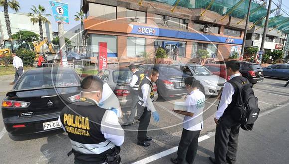 Delincuentes asaltan a un cambista y desatan balacera en Surquillo