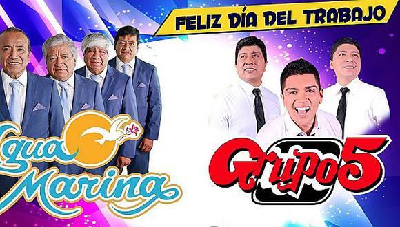 Grupo5 y Agua Marina se presentarán en concierto en Plaza Norte por el Día del Trabajo