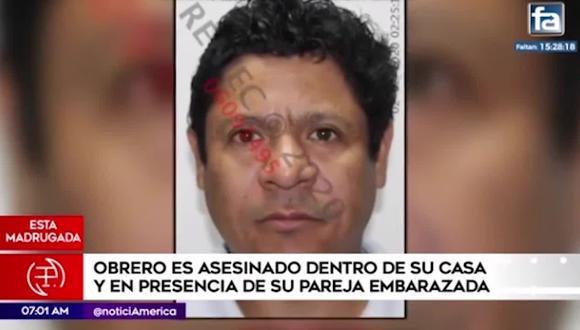 La víctima, quien trabajaba en construcción civil, había llegado desde Cañete para pasar el fin de semana con su familia. (Foto captura: América Noticias)