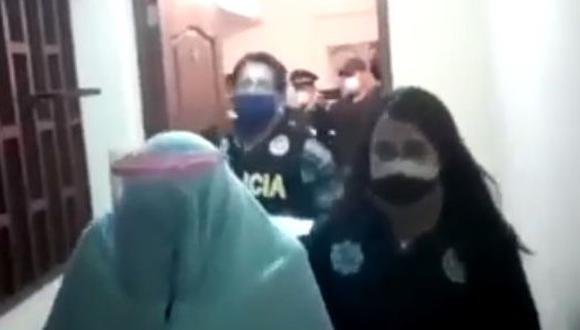 En el lugar se intervino a peruanas y ecuatorianas. (Captura América TV)