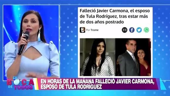 Maju Mantilla se quiebra al hablar de la muerte del esposo de Tula Rodríguez, Javier Carmona | EBT