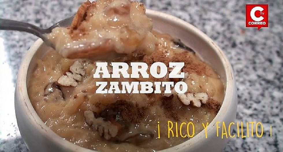 La receta peruana del Arroz zambito