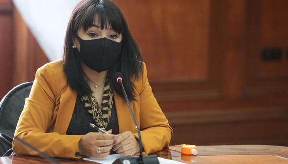 Mirtha Vásquez se desempeñó como congresista del Frente Amplio y presidenta del Congreso en la legislatura 2020 - 2021.  Foto: PCM