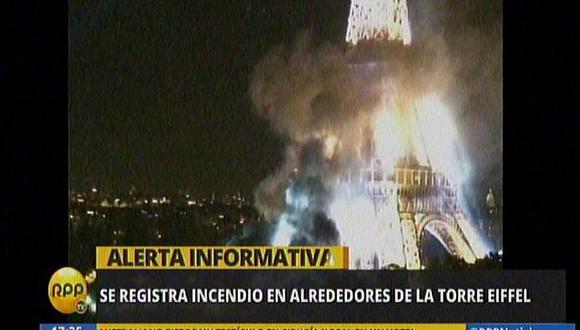 Francia: Se registra incendio en alrededores de la Torre Eiffel
