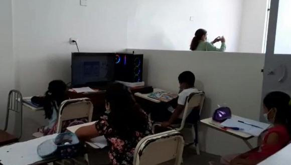 El titular de la Dirección Regional Lambayeque confirmó que las clases virtuales en la región serán hasta el primer semestre del presente año (Foto: Captura de Pantalla RPP)