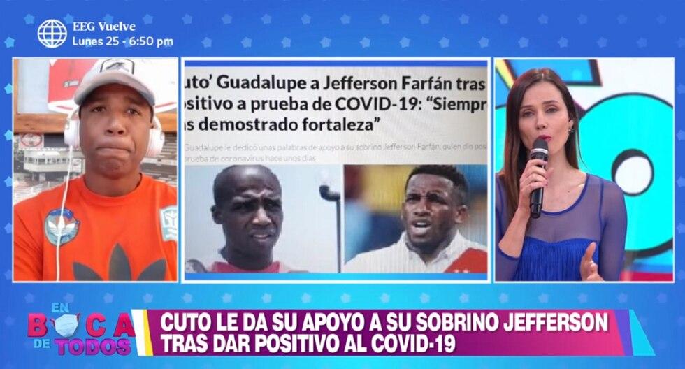 Cuto Guadalupe se refirió a la salud de su sobrino Jefferson Farfán, quien dio positivo a COVID-19. (Foto: Captura América TV)