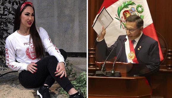 "Melissa Loza a Martín Vizcarra: ""Por fin escuchó al país, valiente presidente"""