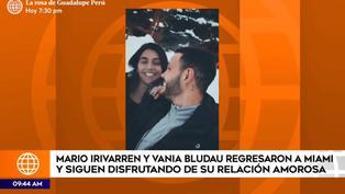 Mario Irivarren y Vania Bludau comparten sus últimos días juntos en Miami