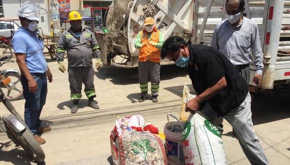 "Lambayeque: decomisan 150 kilos de ""conchitas de mar"" extraídas ilegalmente (Foto: Municipalidad Chiclayo)."