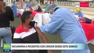 A partir de este sábado vacunarán a pacientes oncológicos