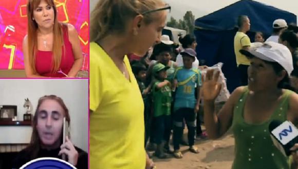"""Natalia Málaga se refirió a su video viral en entrevista con """"Magaly TV: La Firme"""". (Video: Captura ATV)"""
