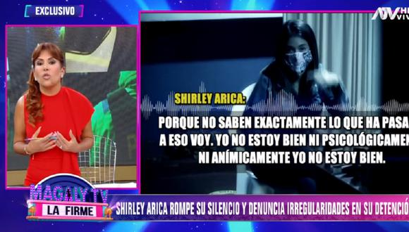 Shirley Arica hace grave acusación contra la PNP. (Foto: Captura ATV)