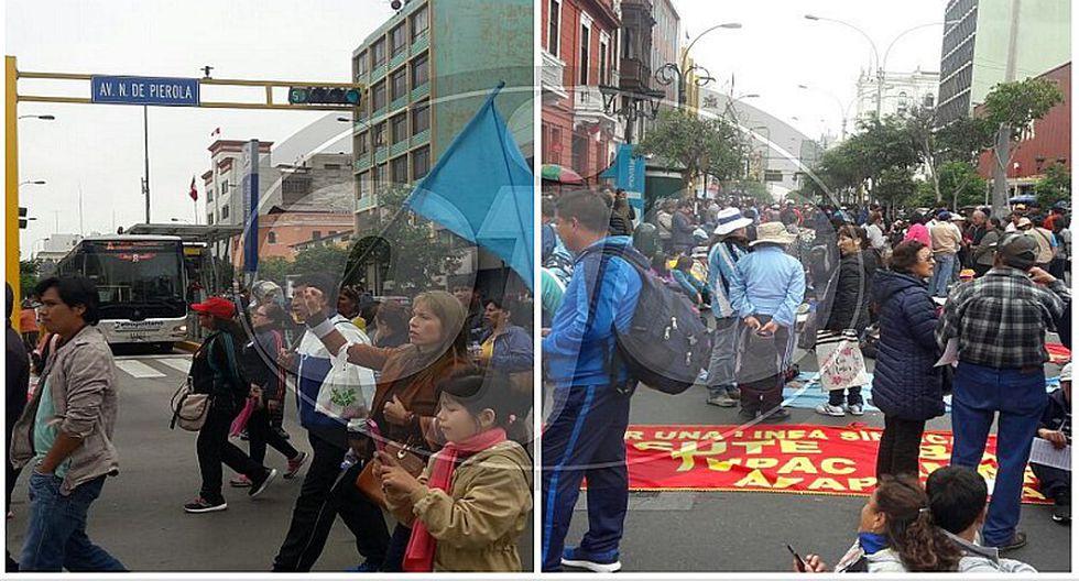Marcha de maestros del Sutep impidió paso del Metropolitano (VIDEO)