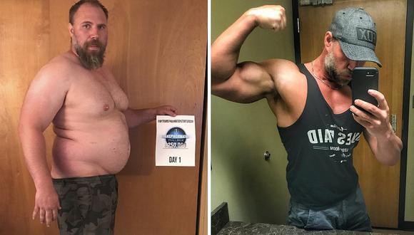 Hombre demuestra gran transformación al bajar 40 kilogramos en cinco meses (FOTOS)