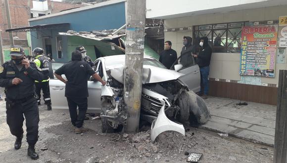 El violento impacto provocó la muerte del exgobernador de Cerro de Pasco, Teódulo Quispe.