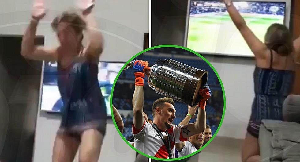 Mujer hincha del River Plate celebra más de la cuenta cuando sale campeón de la Libertadores (VIDEO)