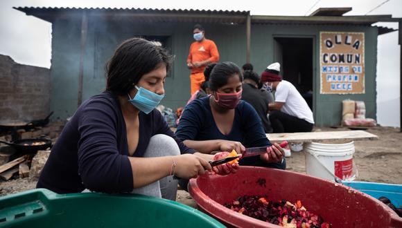 Funcionamiento de las ollas comunes es fundamental para la población más vulnerable frente a la segunda ola de la pandemia del COVID-19. (Foto: GEC)