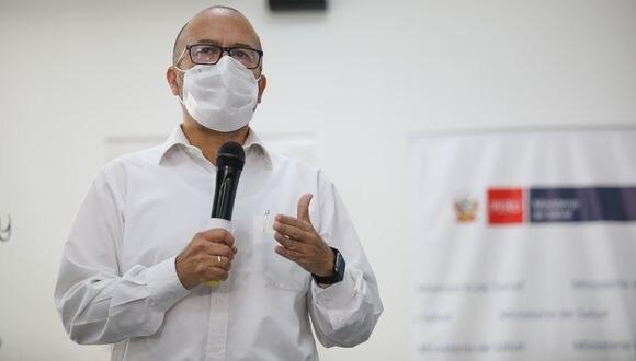 """Ministro de Salud informó que instalará 1.250 """"Puestos COVID"""" para pruebas de ciudadanos. (Foto: Britanie Arroyo/GEC)"""
