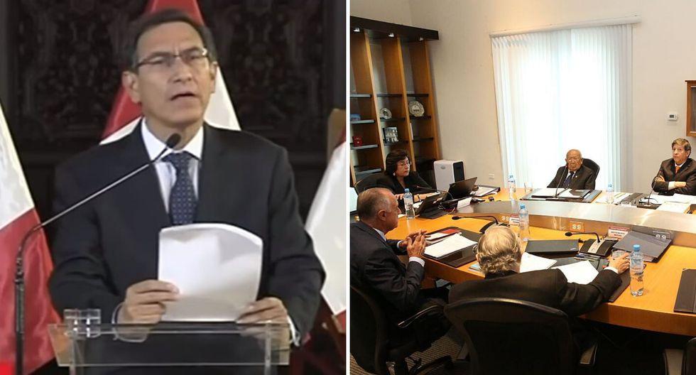 El Tribunal Constitucional difundió en vivo el debate que terminó con cuatro votos a favor y tres en contra de rechazar la demanda de Pedro Olaechea. (Foto: Difusión)   TV Perú
