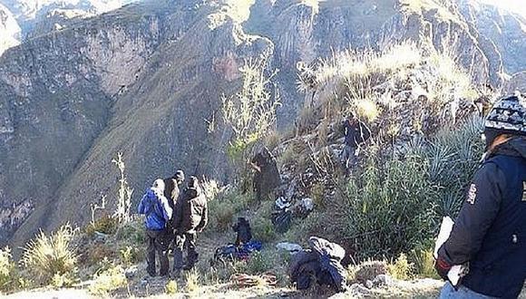 Arequipa: Encuentran con vida a tres turistas franceses perdidos en el Colca