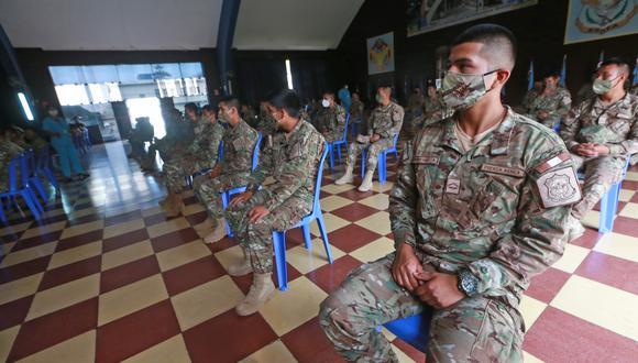 En la quincena de diciembre fueron capacitados 400 miembros del Ejército. (Foto: Mindef)