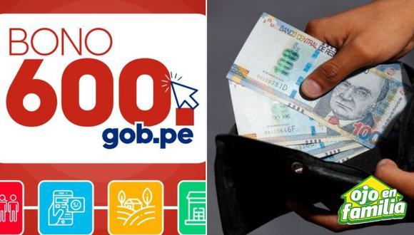 Consulte si es beneficiario ingresando en www.bono600.gob.pe