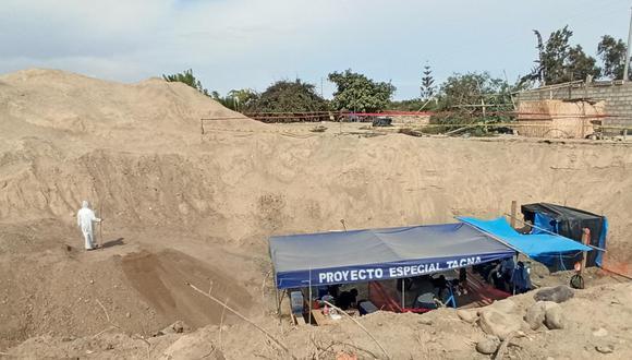 Tacna:  representantes del Ministerio Público para supervisar los trabajos de recuperación de restos humanos (Foto: GEC)