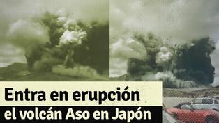 Japón: estos son los impresiones videos del momento de la erupción del monte Aso