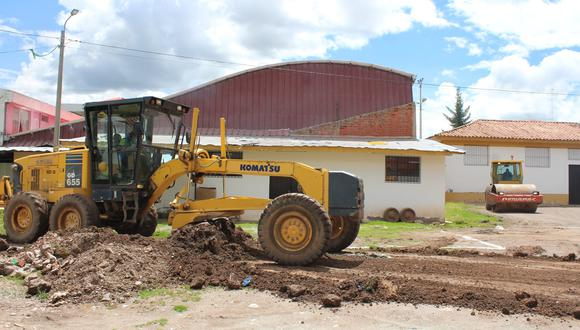 Cusco: el trabajo de acondicionamiento de los terrenos está a cargo del proyecto Plan COPESCO, que destinó maquinaria pesada para instalar la infraestructura. (Foto: Gore Cusco)