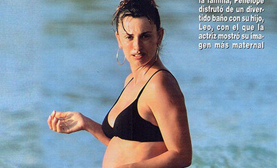 Penélope Cruz luce su embarazo en el Caribe