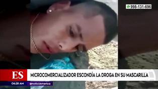 San Martín de Porres: capturan a un vendedor de droga que escondía los ketes en su mascarilla
