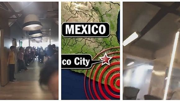 Impactantes videos grabados durante terremoto de 7,2 grados en Oaxaca-México
