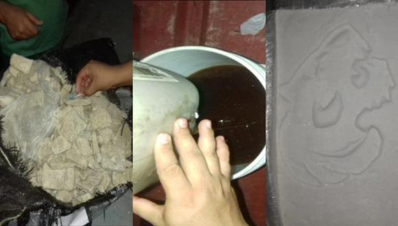 Cusco: PNP destruye narco laboratorio y decomisa 125 kilos de cocaína líquida y sólida (Foto: PNP)