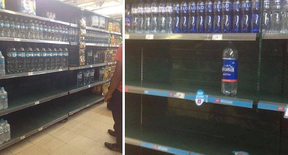 Lima sin agua: se agota agua mineral en supermercados y anaqueles lucen vacíos (FOTOS)