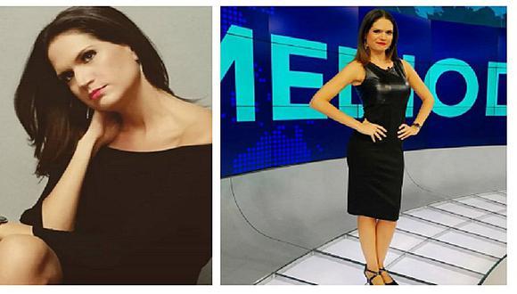 Periodista Lorena Álvarez disfruta el verano con bikini dorado (FOTOS)