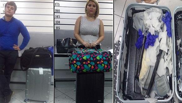 """Detienen en aeropuerto a tres """"burriers"""" con más de 10 kilos de droga"""