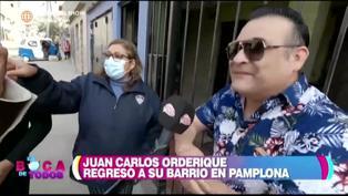 Juan Carlos Orderique regresó a su barrio en Pamplona y sus vecinas lo vacilaron