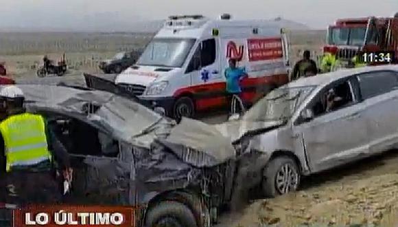 Pasamayo: choque entre dos autos deja cuatro heridos