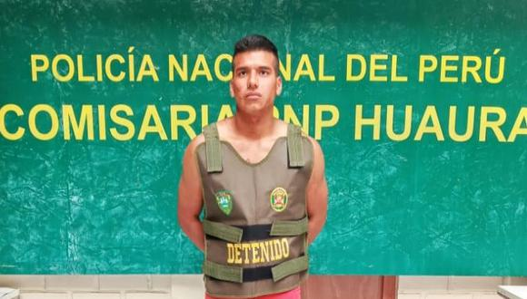 Alex Robert Cotrina Solis registra antecedentes por violencia familiar. (Foto: PNP)
