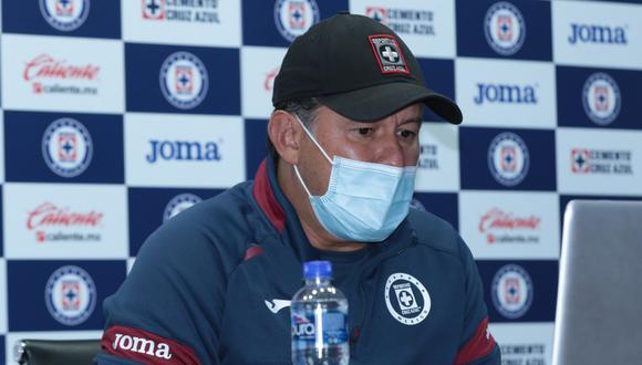 Juan Reynoso tiene con Cruz Azul cinco victorias consecutivas. (Foto: Cruz Azul)