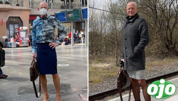 Hombre usa faldas y tacones para ir al trabajo. Foto: (Instagram/@markbryan911).