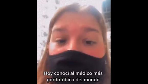 """""""Estás muy gorda"""": va al ginecólogo por un dolor de ovarios y médico le receta ir al nutricionista. (Foto: @cande.pupi / TikTok)"""
