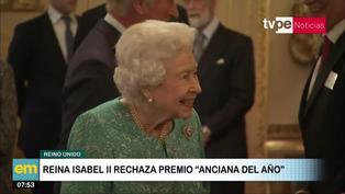 """Reino Unido: Isabel II rechazó premio a """"Anciana del año"""" según su secretario privado"""