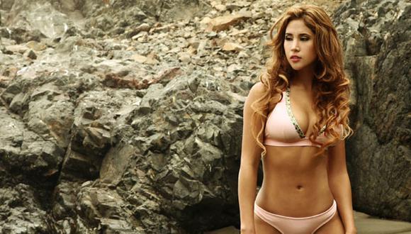 Melissa Paredes realiza sensual sesión de fotos