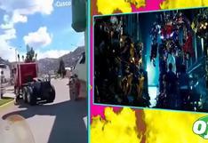 'Transformers' en Cusco: imágenes inéditas de las grabaciones | VIDEO